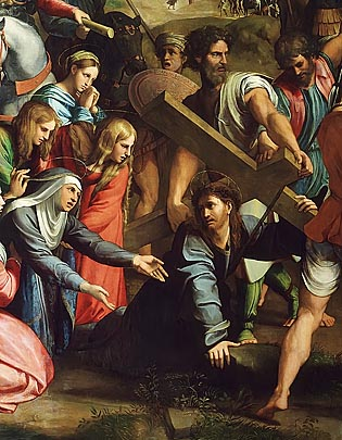 Christ Falls on the Way to Calvary Raphael, 1516