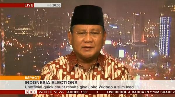 Prabowo tampil di BBC World News Impact (BBC)